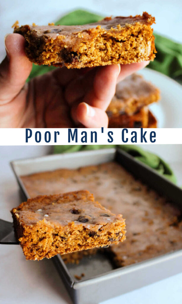 Vintage poor man's cake is a delicious blast from the past. This simple spiced raisin cake is made with ingredients that are likely to be in your pantry.
