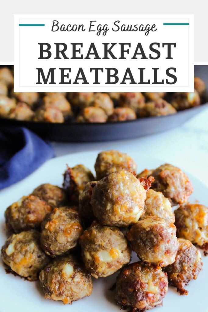These meatballs have all of your breakfast favorites packed into a tiny bite sized meatballs. That's right, there is sausage, bacon, eggs and cheese all inside. They are a tasty and fun way to change up your brunch menu.