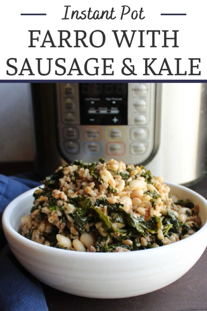 This all in one meal combines the nutritional powerhouses of farro and kale with the tasty goodness of Italian sausage and Parmesan cheese. It is a well rounded meal that comes together quick and easily with the help of an instant pot.