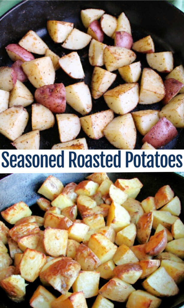 Roasted potatoes are a versatile and easy side dish. These have the perfect amount of seasoning on the outside and are soft and delicious on the inside too.