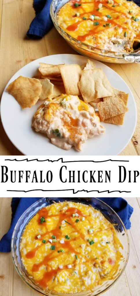 Cheesy, creamy and spicy goodness. This buffalo chicken dip is always a hit at game day parties. Dig in with pita chips, corn chips or tortilla chips (and you might want to think about making a double batch!)