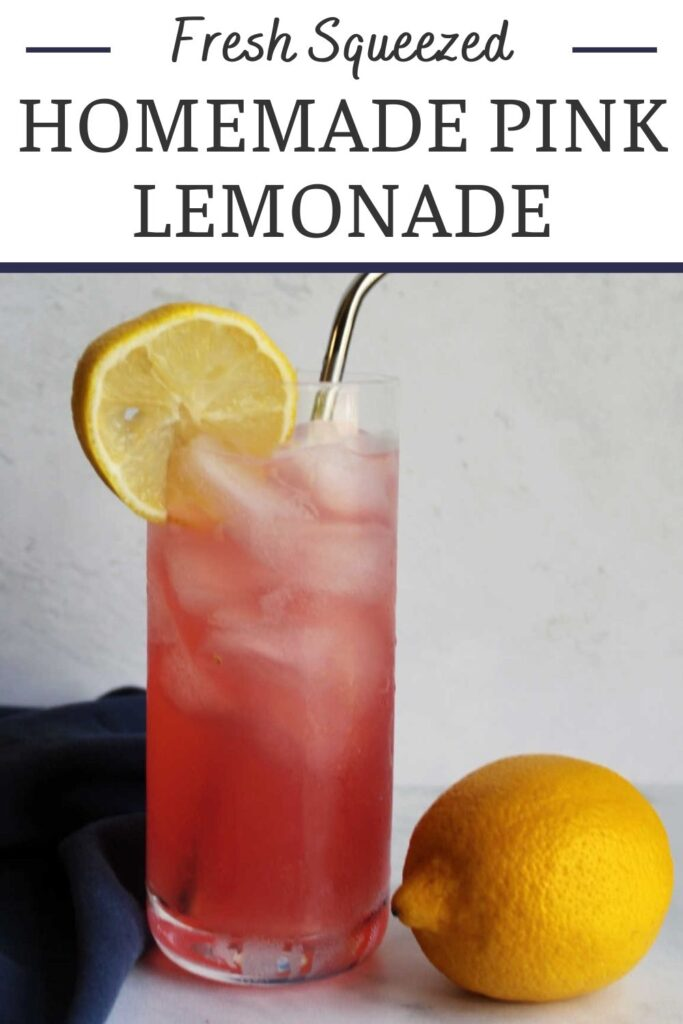 Homemade pink lemonade is the epitome of refreshing summer beverages. It has the perfect combination of sweet and tart and only takes a few ingredients to make.