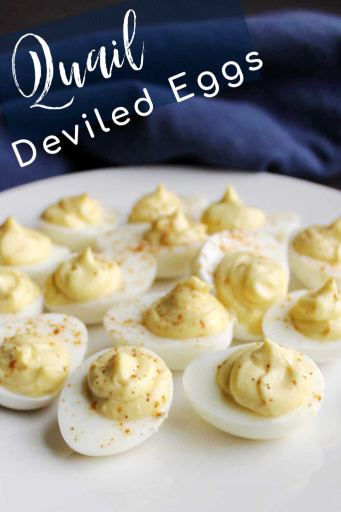 Cute little bite sized deviled quail eggs are tasty and fun. They just like a classic deviled egg but teeny tiny.
