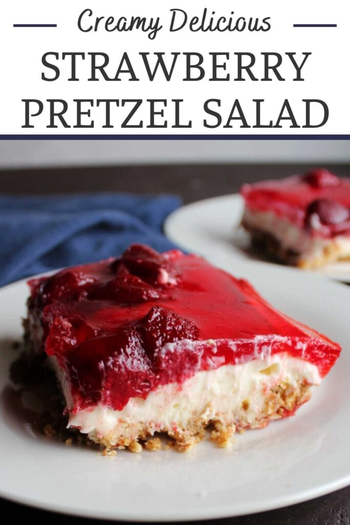 Strawberry pretzel salad is a summer staple. It has layers of salty pretzel crust, a creamy cheesecake like center and yummy strawberry topping. It is perfect for BBQs and family reunions.