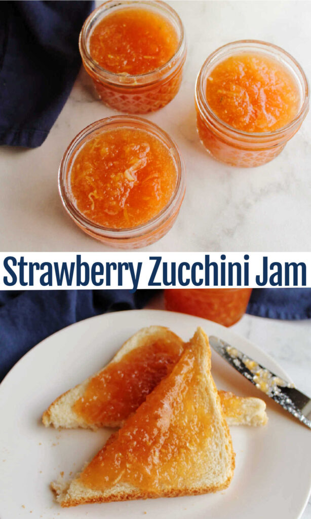 This mock strawberry zucchini jam is such a fabulous way to turn your summer squash harvest into something unexpected and delicious. It is quick to put together and fabulous spread over toast or swirled into yogurt.