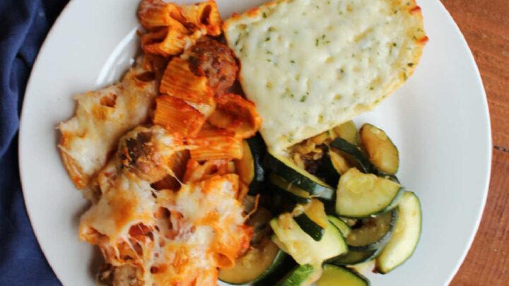 close dinner plate no boil rigatoni
