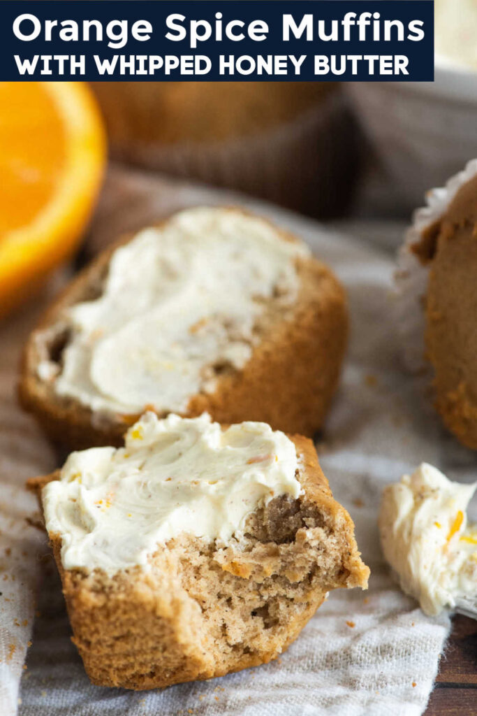 Tender orange spice muffins go perfectly with a bit of whipped honey butter. The hints of cinnamon and ginger bring big flavor to your breakfast table.