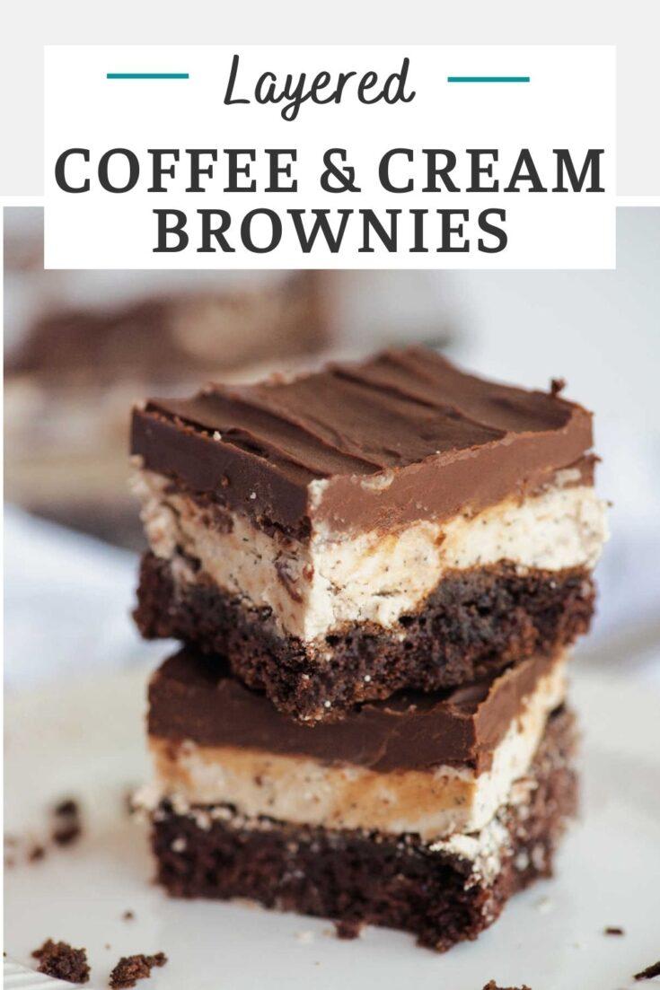 layered coffee cream brownies