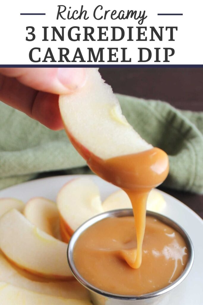 Make your own easy 3 ingredient caramel dip and slice up some apples to satisfy your sweet tooth in such a tasty way. This dip is simple to make, stores well and tastes amazing!