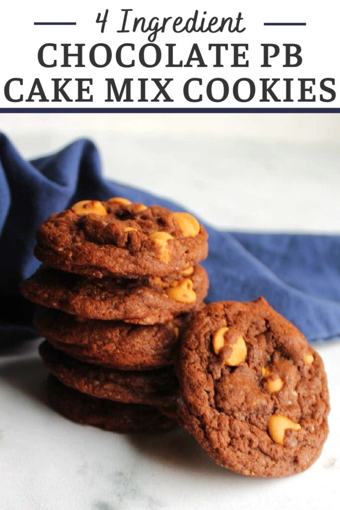 Peanut butter chocolate cake mix cookies are the perfect way to make a sweet treat in a hurry. They only take 4 simple ingredients and a few minutes to put together, but that can be out little secret. Everyone else can think you worked hard baking up a delicious dessert.